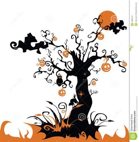 imagenes de halloween vector halloween baum mit laterne der steckfassung o vektor