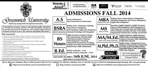 Nust Mba Admission Criteria by Of Central Punjab Ucp Lahore Fall Admission