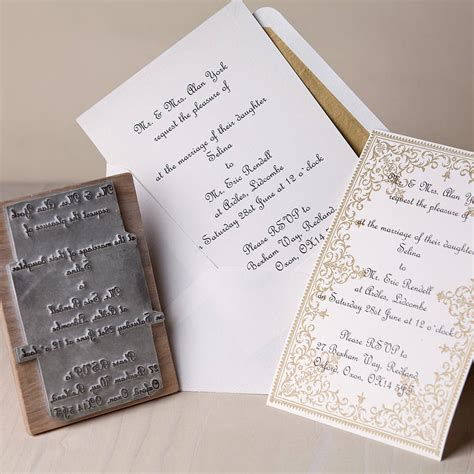 personalized rubber sts for wedding wedding invitation rubber st set wedding ideas