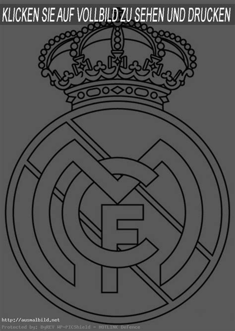 Real Madrid Logo Coloring Pagel