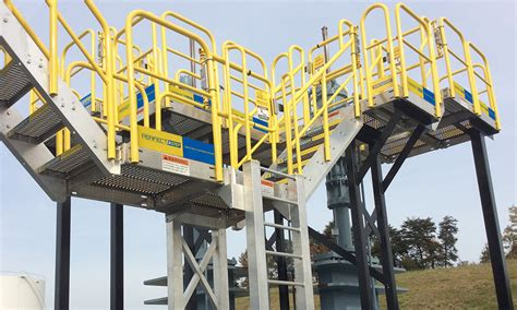 Work Platforms With Handrails custom stairs platforms