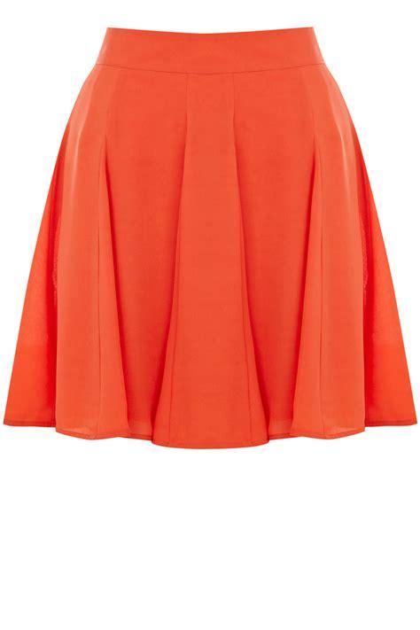 Godet Skirt godet skirt orange oasis stores