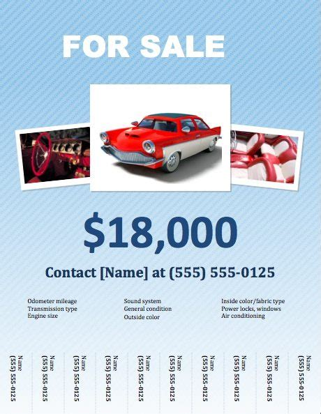 for sale flyer template car for sale flyer template for pages free iwork templates