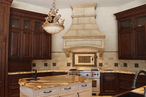 Kitchen Faucets Houston by Tuscan Stone Vent Hood Mediterranean Kitchen Houston