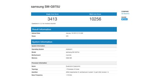samsung galaxy s10 with qualcomm snapdragon 855 soc visits geekbench 4 gizbot news