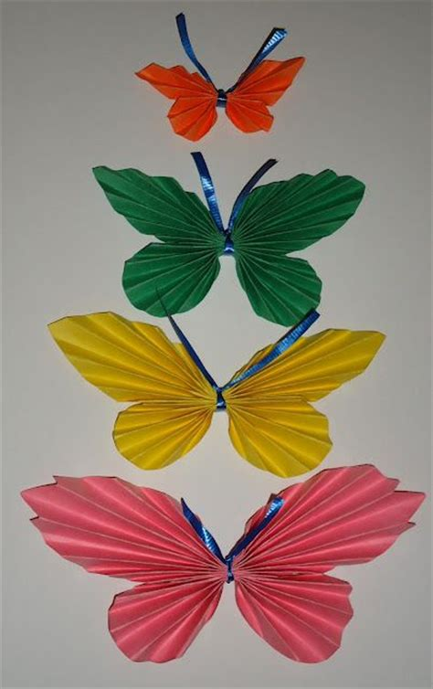 Folded Paper Butterflies - folded paper butterfly crafts craft ideas