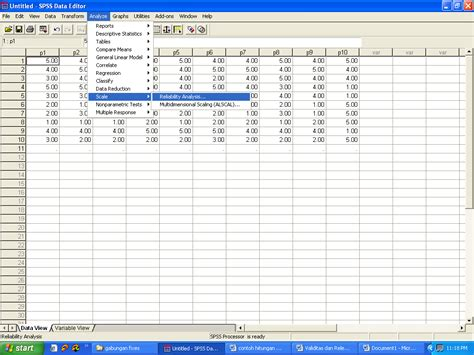 tutorial uji validitas dan reliabilitas dengan spss contoh uji validitas dan reliabilitas dengan program spss