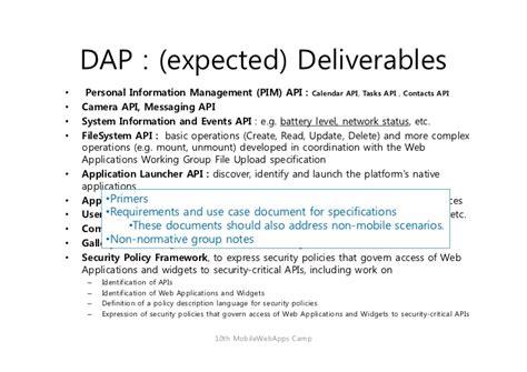 dap note template w3c dap wg activity