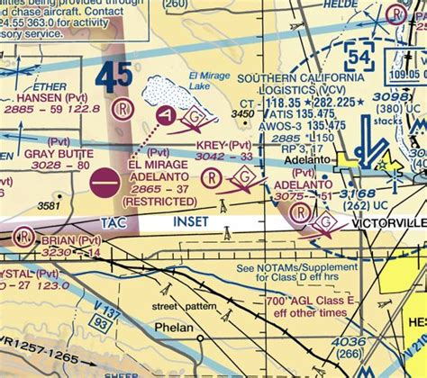 la sectional chart abandoned little known airfields california southern