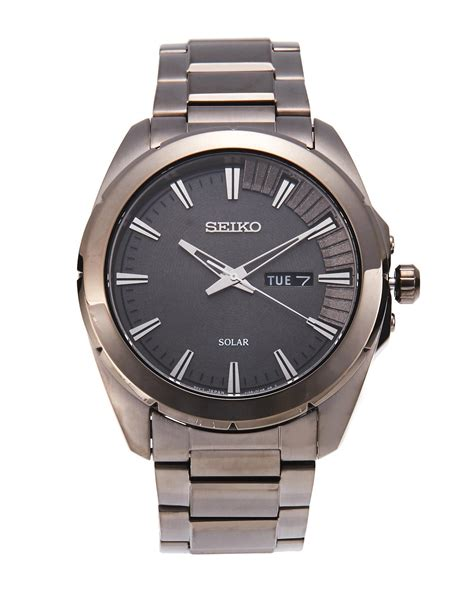 Seiko Sne419 Grey Watch in Gray for Men   Lyst