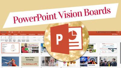 Powerpoint Vision Boards The Powervision Board Miss Wells Vision Board Powerpoint Template