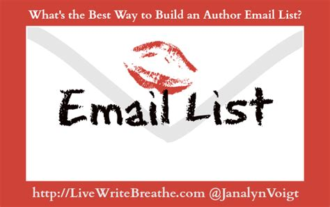 what is the best way to build an author email list live