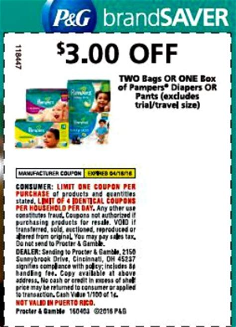 printable coupons for diaper bags pers coupons 3 off 2 bags or 1 box 1 off