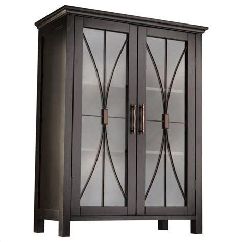 2 door floor cabinet 2 door floor cabinet in espresso 7329