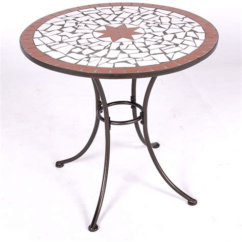 Bistro Patio Tables Customer Reviews For Patterned Mosaic Bistro Table
