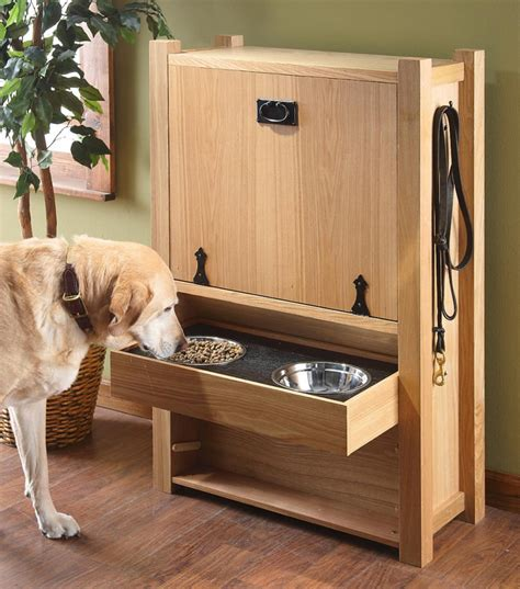 pet food storage cabinet storage furniture feeders and organizing solutions