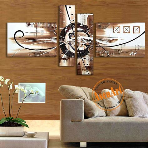 home decor sets hand painted canvas oil painting abstract wall art 4pcs