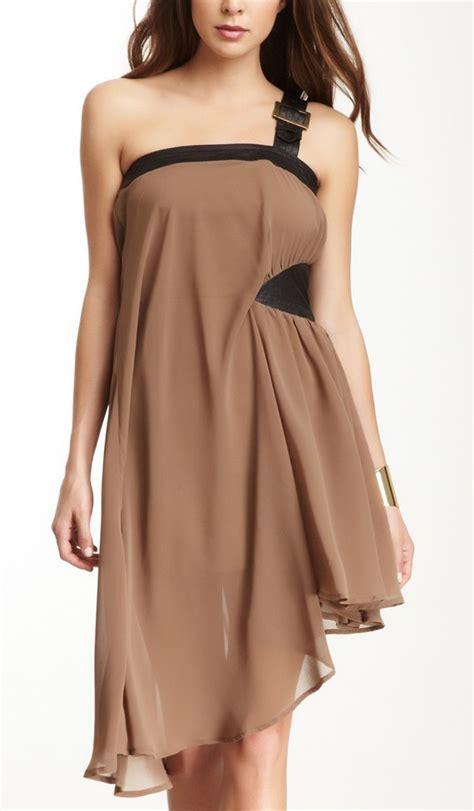 drape dress with one shoulder one shoulder drape dress style pinterest