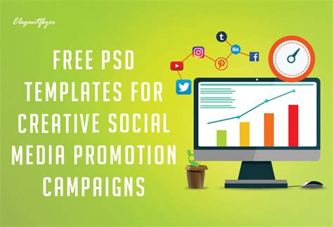 Free Psd Templates For Facebook Instagram And Youtube By Elegantflyer Free Social Media Graphic Templates