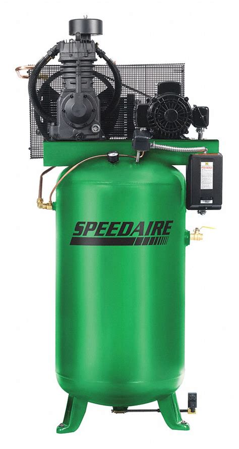 speedaire 1 phase electrical vertical tank mounted 5 00hp air compressor stationary air