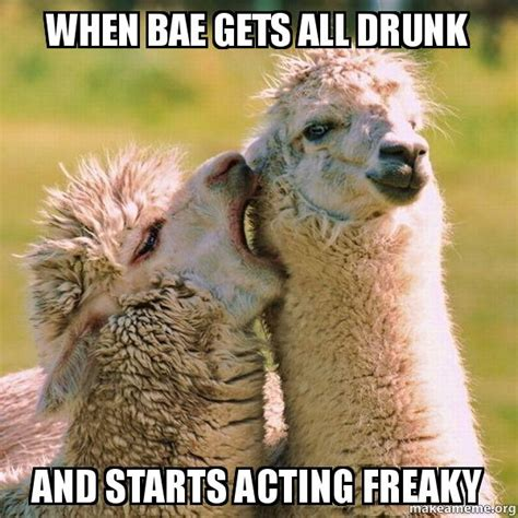 Freaky Memes - when bae gets all drunk and starts acting freaky make a meme