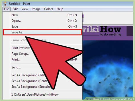 invert color 2 simple ways to invert colours in ms paint wikihow