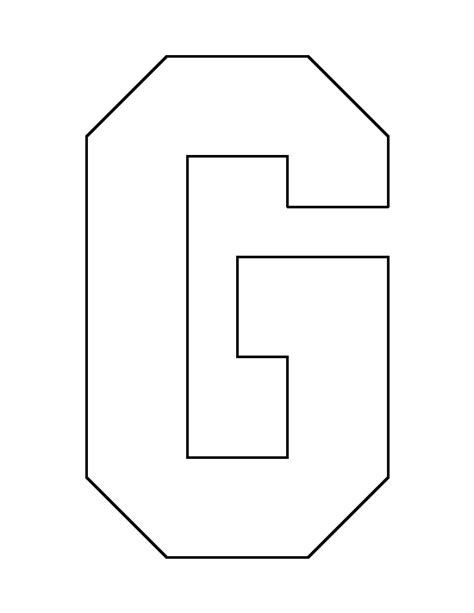 letter e pattern use the printable outline for crafts letter g pattern use the printable outline for crafts