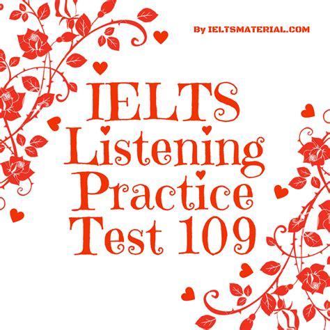 ielts listening test ielts listening practice test 109