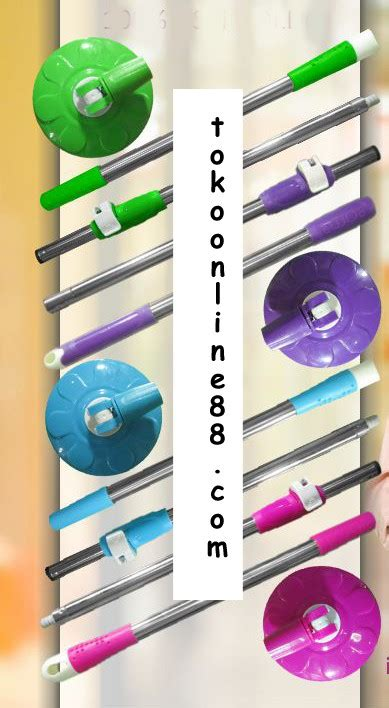 Kepala Alat Pel Mop Bolde Plus Tongkat Besar tongkat dan kepala mop kuat dan tahan lama tokoonline88blog