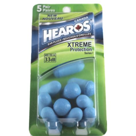 Hearos Protection Ear Plugs 33db Eceran 3 Pair Blue buy hearos ear plugs xtreme protection series at well ca free shipping 35 in canada