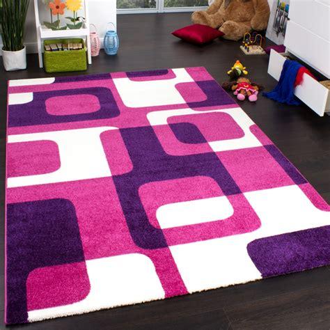 teppiche kinder teppich kinderzimmer trendiger retro kinderteppich in pink