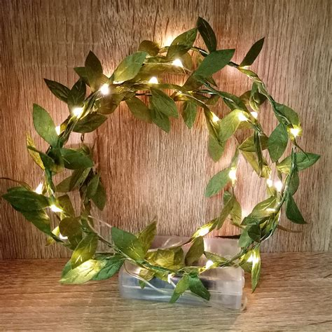novelty leaf garland  battery operated copper led fairy string lightschristmas light