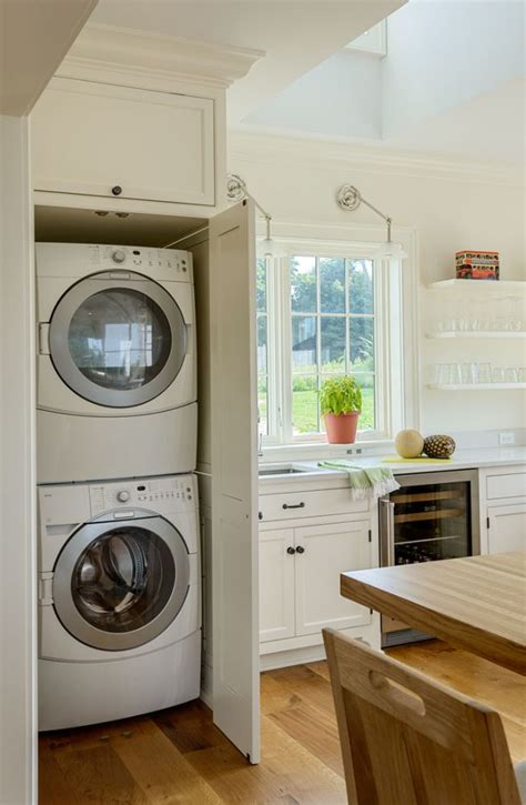 how to hide washer and dryer in bathroom 25 best ideas about laundry in kitchen on pinterest