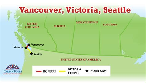 map seattle vancouver vancouver seattle 7 days 6 nights cartan