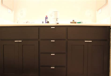 How To Refinish Bathroom Cabinets by Inside The Frame The Master Bathroom Project