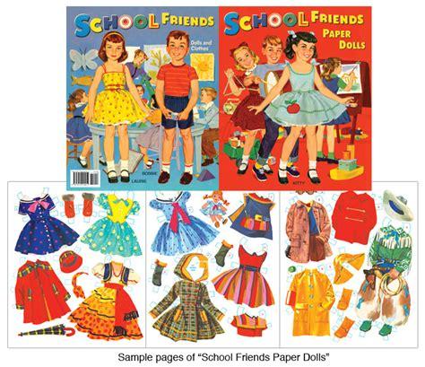 Friends Paper Dolls - school friends paper dolls vintage clothes