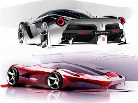 design car laferrari design sketches and details car body design