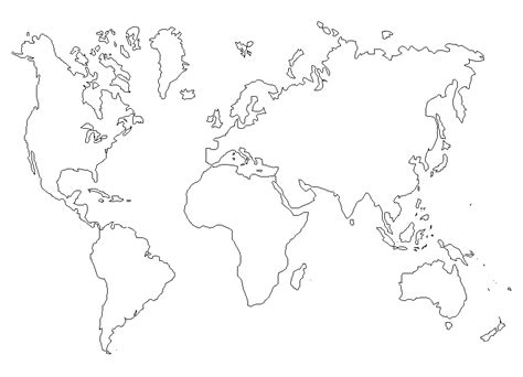 imagenes del mapamundi en blanco y negro mapa del mundo en blanco para colorear imagui