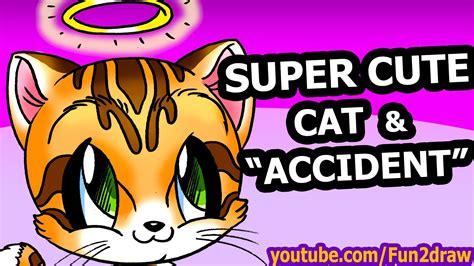 How to Draw Animals Easy   Cute Cartoon Cat   Fun2draw