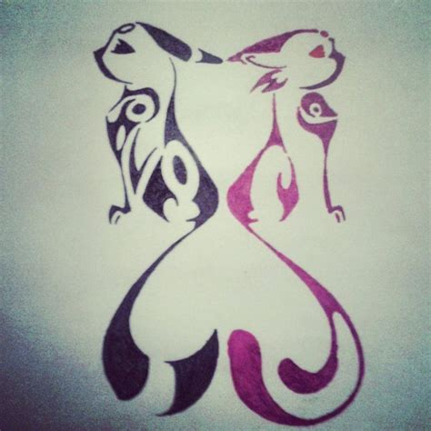 umbreon and espeon snuggles by 35 best tribal tattoos images on