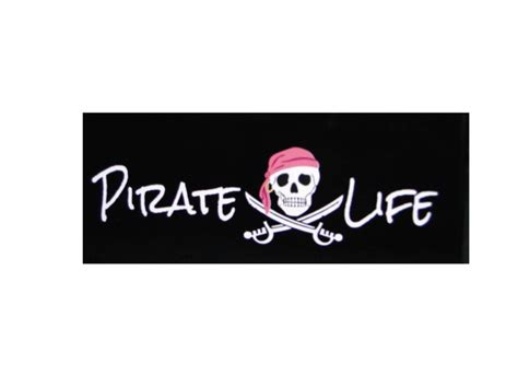 Auto Graphs Decals by Pink Cap Pirate W Skull Premium Vinyl Car Decal