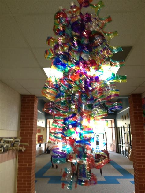 Dale Chihuly Inspired Recycled Water Bottle Chandelier Water Bottle Chandelier