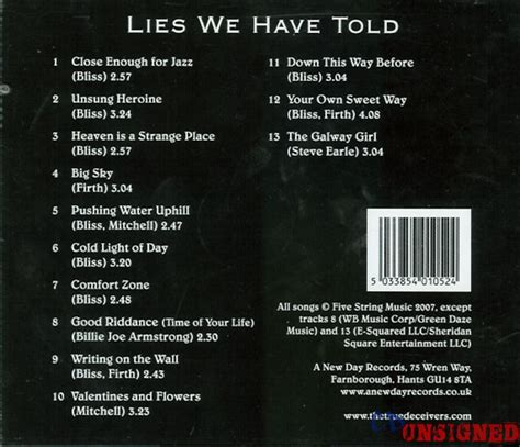 the true deceivers lies we told buy the cd from