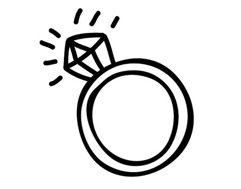 Engagement Ring Coloring Page Coloringcrew Com Ring Coloring Pages