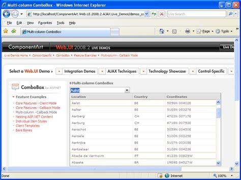 asp net combo asp net controls