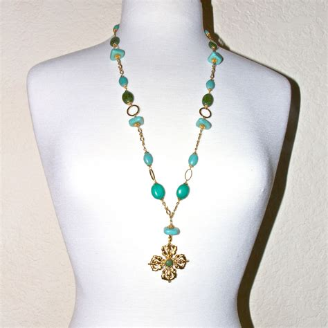 turquoise and gold dorje necklace honoring