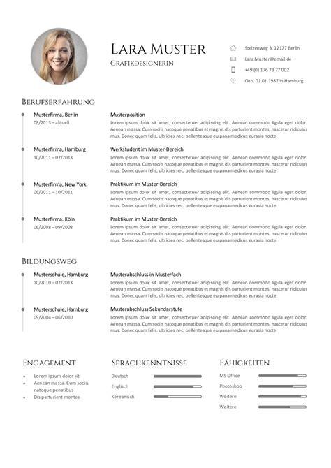 Lebenslauf Vorlage Grafiker Premium Bewerbungsmuster 7 Lebenslaufdesigns De