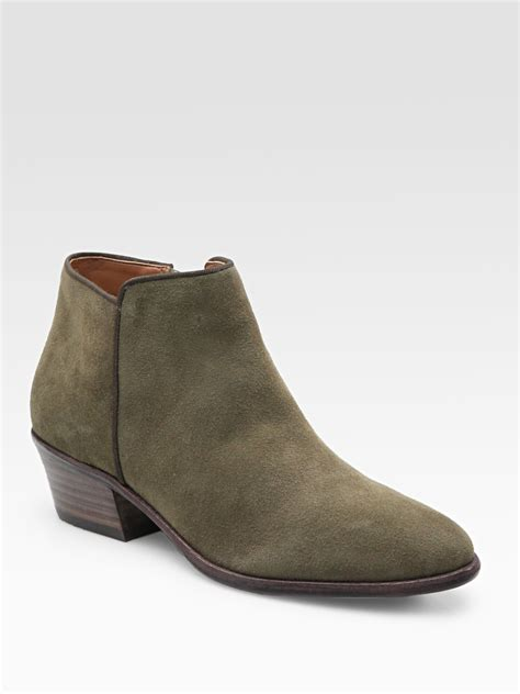 sam edelman petty boots sam edelman petty lowcut suede ankle boots in lyst