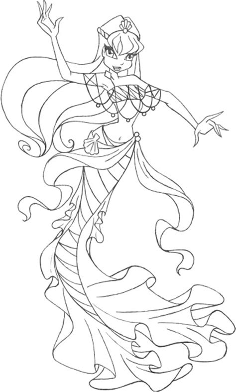 winx mermaids coloring pages winx club bloom bloomix coloring pages colorings net