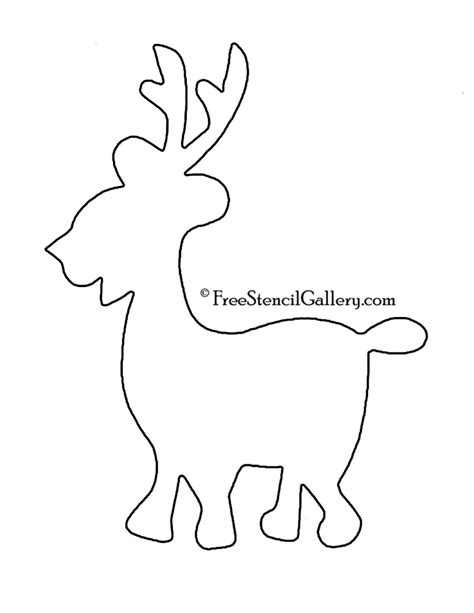 reindeer silhouette template reindeer silhouette stencil 05 free stencil gallery